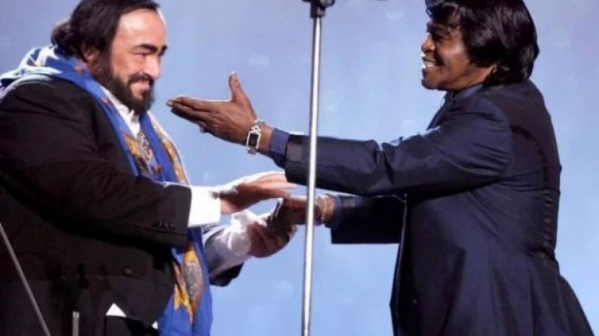 Le jour où James Brown et Luciano Pavarotti ont partagé un duo (vidéo)