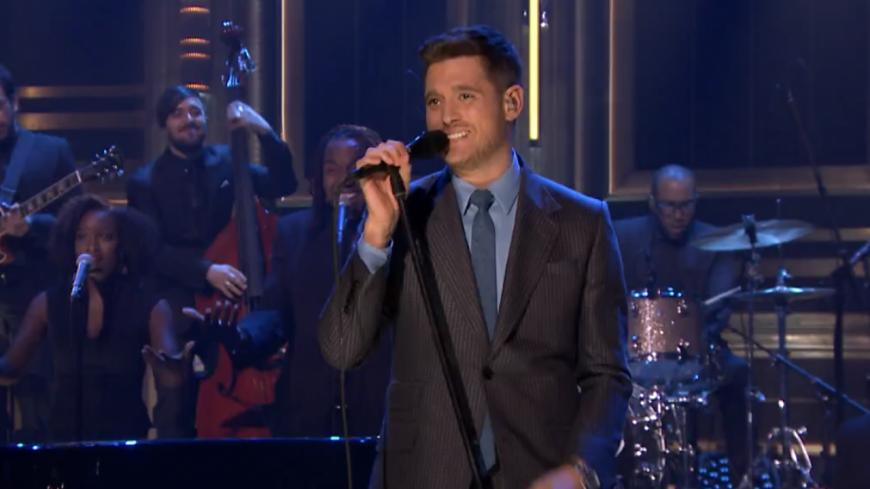 Michael Bublé, revivez sa prestation chez Jimmy Fallon !