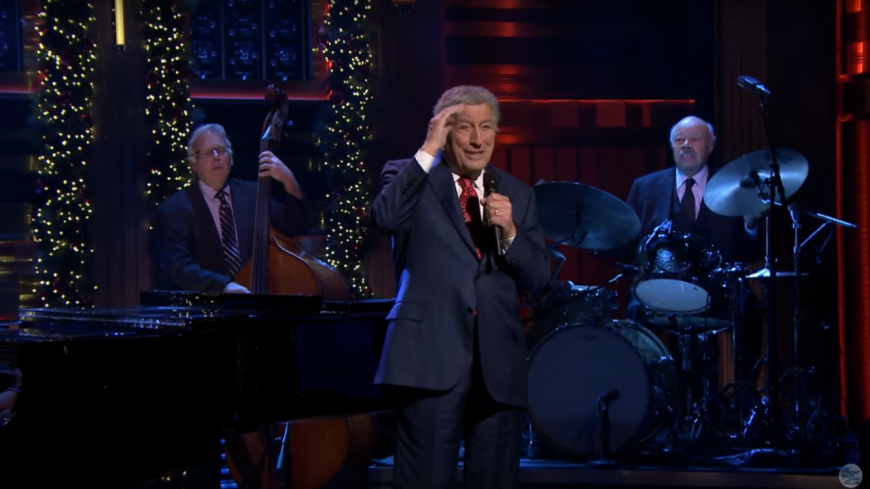 "Tony Bennett reprend  ""I Left My Heart in San Francisco"" chez Jimmy Fallon !"